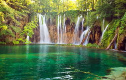 Parque nacional dos lagos Plitvice imagens de stock