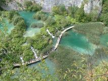 Parque nacional dos lagos Plitvice em Croatia Imagem de Stock