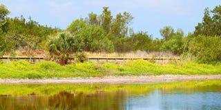 Parque nacional dos marismas da lagoa de Eco Fotos de Stock Royalty Free