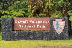 Parque nacional dos vulcões Imagem de Stock Royalty Free