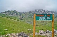 Parque nacional Durmitor Foto de archivo libre de regalías