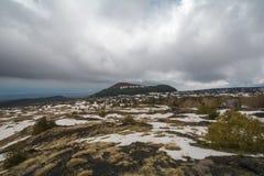 Parque nacional en el Etna en Sicilia foto de archivo libre de regalías