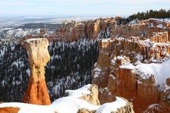 Parque nacional en invierno, Utah, los E.E.U.U. de la barranca de Bryce Fotografía de archivo libre de regalías