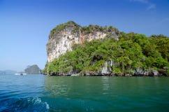 Parque nacional en la bahía de Phang Nga, Tailandia Fotos de archivo libres de regalías