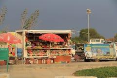 Parque nacional exterior de Caesarea Maritima del soporte de concesión Foto de archivo
