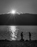 Parque Nacional Glacier de McDonald del lago imagen de archivo