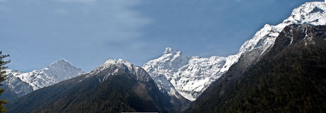 Parque nacional Himalaia de Manaslu fotografia de stock royalty free