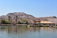 Parque nacional israelí Timna de la orilla del lago Imagenes de archivo