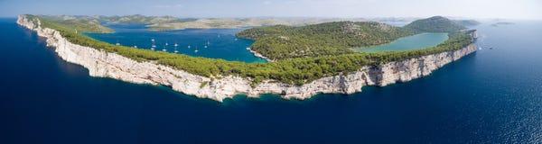 Parque nacional Kornati e parque natural de Telascica, Croácia Fotografia de Stock Royalty Free