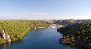 Parque nacional Krka Croacia de Krka Fotografía de archivo