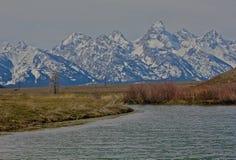 Parque nacional magnífico de Teton Imagenes de archivo
