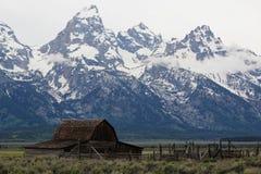 Parque nacional magnífico de Teton de la fila mormona imágenes de archivo libres de regalías