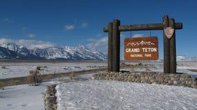 Parque nacional magnífico Wyoming de Teton Fotos de archivo