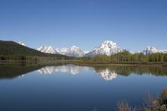 Parque nacional magnífico y reflexiones de Tetons Imagenes de archivo