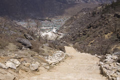 Parque nacional nepal do sagarmatha de Khumjung Imagens de Stock Royalty Free