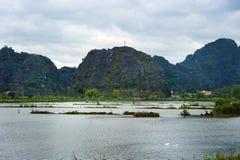 Parque nacional Ninh Binh vietnam 14-12-2013 Imagem de Stock Royalty Free