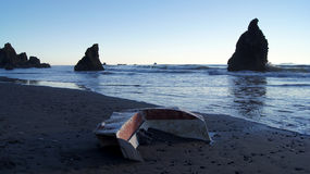 PARQUE NACIONAL OLÍMPICO, EUA, o 3 de outubro de 2014 - Ruby Beach perto de Seattle - Washington Imagens de Stock