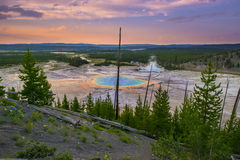 Parque nacional prismático grande de Yellowstone Imagem de Stock