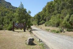 Parque Nacional Radal Siete Tazas在Maule,智利 免版税库存图片