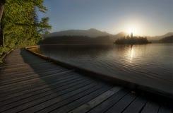 Parque nacional sangrado Eslovênia do lago Imagens de Stock