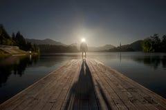 Parque nacional sangrado Eslovenia del lago fotos de archivo
