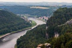 Parque nacional saxão de Switzerland Imagem de Stock