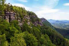 Parque nacional Suiza bohemia, República Checa Imagen de archivo libre de regalías