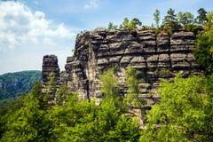 Parque nacional Suiza bohemia, República Checa Fotos de archivo libres de regalías