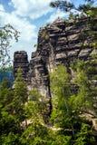 Parque nacional Suiza bohemia, República Checa Imagenes de archivo