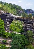 Parque nacional Suiza bohemia, República Checa Imagen de archivo
