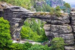 Parque nacional Suiza bohemia, República Checa Foto de archivo libre de regalías