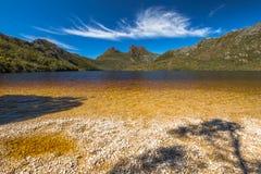 Parque nacional Tasmania de la montaña de la cuna Imagenes de archivo