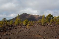Parque nacional Teide El ir de excursión en el volcán Imagen de archivo