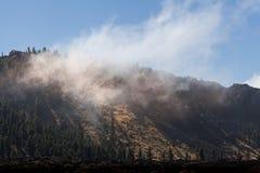 Parque nacional Teide El ir de excursión en el volcán Imágenes de archivo libres de regalías