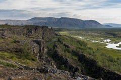 Parque nacional Thingvellir en Islandia Foto de archivo libre de regalías