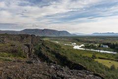 Parque nacional Thingvellir en Islandia Fotos de archivo