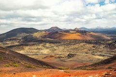 Parque nacional Timanfaya fotografia de stock