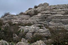 Parque Nacional Torcal de Antequera obraz stock
