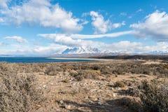 Parque Nacional Torres del Paine in Chile. Mountains in Parque Nacional Torres del Paine, Chile Stock Photos