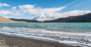 Parque Nacional Torres del Paine in Chile. Mountains in Parque Nacional Torres del Paine, Chile Royalty Free Stock Images