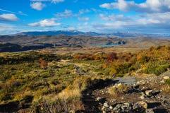 Parque Nacional Torres del Paine, Cile Immagini Stock