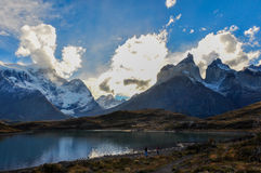 Parque Nacional Torres del Paine, Cile Fotografie Stock Libere da Diritti