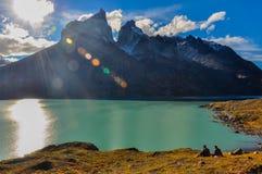 Parque Nacional Torres del Paine, Cile Fotografie Stock