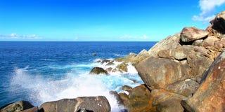 Parque nacional Tortola de la bahía del tiburón imagen de archivo