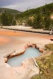 Parque nacional Wyoming los E.E.U.U. de Paint Pots Yellowstone del artista Fotos de archivo libres de regalías