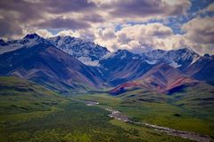 Parque nacional y coto de Denali Imagen de archivo