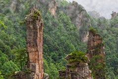 Parque natural das montanhas do Avatar de Tianzi - Wulingyuan China foto de stock