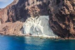 Parque natural de Cabo de Gata-NÃjar no canto do sudeste da Espanha Fotografia de Stock Royalty Free