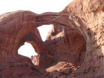Parque natural de los arcos: Arco doble Foto de archivo libre de regalías