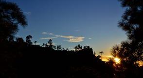 Parque natural de Pilancones no por do sol Imagens de Stock